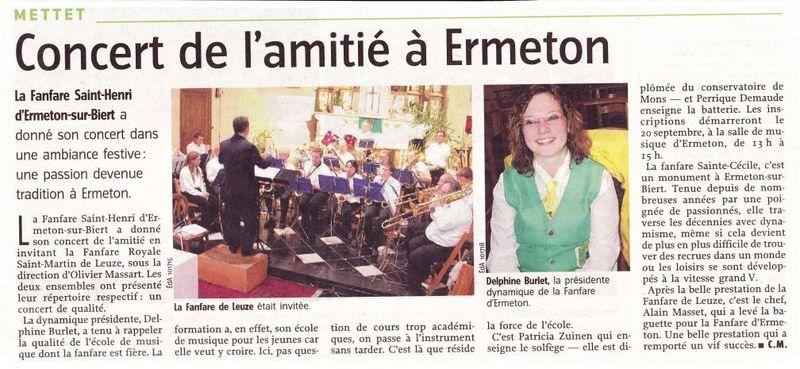 Article Vers L'avenir ConcertAout08