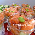 Verrines sans sushi