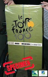 sac poubelle jaune collector Tour de France 2013 cycliste Avranches