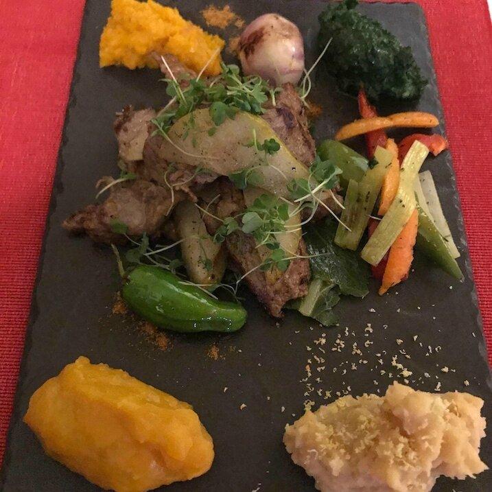 Piccata de porc, légumes de saison (2)