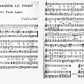 Let's twist again (partition - sheet music)