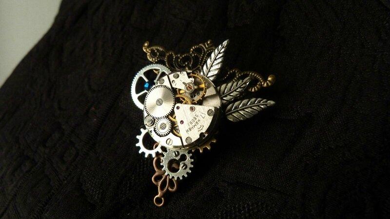 steampunk broche triangle mécanisme (1)