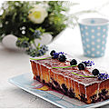 Cake aux myrtilles glaçage citron.....