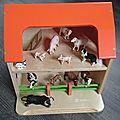 On joue avec wesco: la petite étable et ses 12 animaux