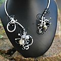 collier ouvert gris et noir proposition pour Myriam D