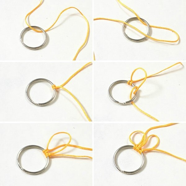 Pandahall Free Instructions on Making Charming Nylon Thread Braided Sunflower Bracelet (7)