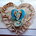 Heart journal , challenge de septembre et pebeo prisme