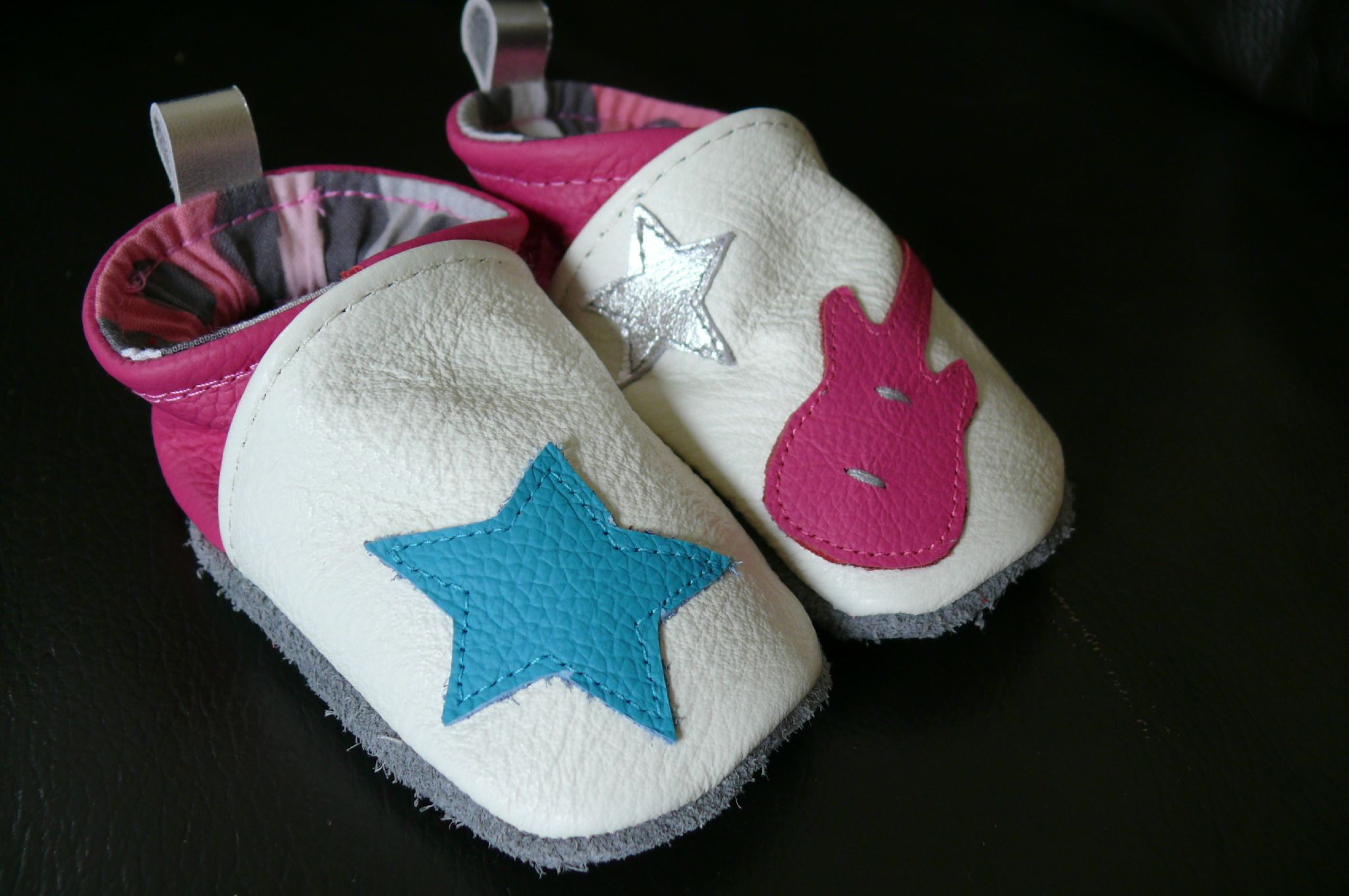 chaussons cuir