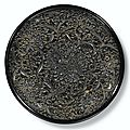An exquisite black lacquer 'peony' dish, song dynasty (960-1279)