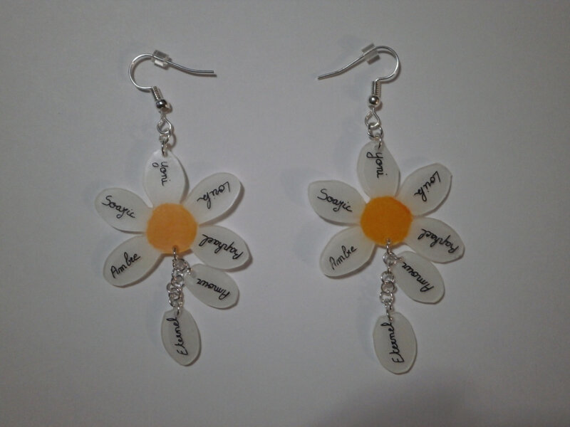 Boucles d'oreille marguerite