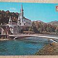 Lourdes - basilique - le Gave datée 1985