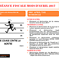 Echeance fiscale mois d'avril 2017 / april drc tax schedule : ibp / drc corporate tax