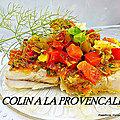 Recette provençale : filets de colin à la provençale