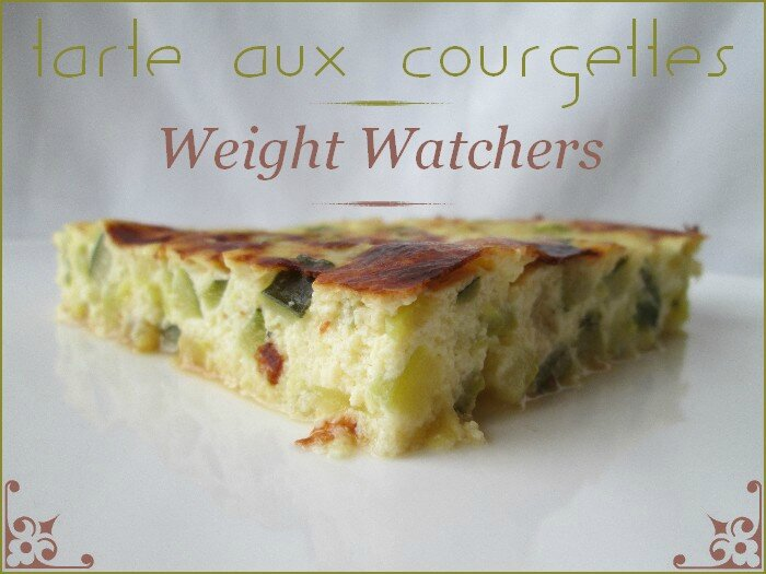 tarte aux courgettes sans pâte weight watchers ww 1