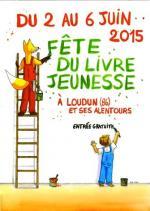 Affiche fete livre jeunesse Loudun 2015