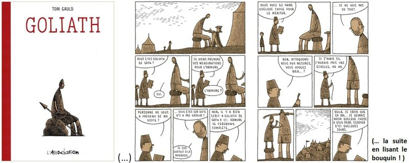 goliath tom gauld l'association bande dessinné en français david géant