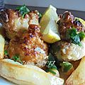 Bouquets de chou fleur farcis viande hachee en beignets sauce blanche