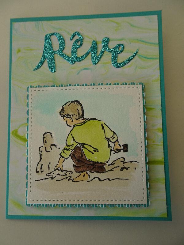 13z Série carte 10 ans de SU Enfant à la plage