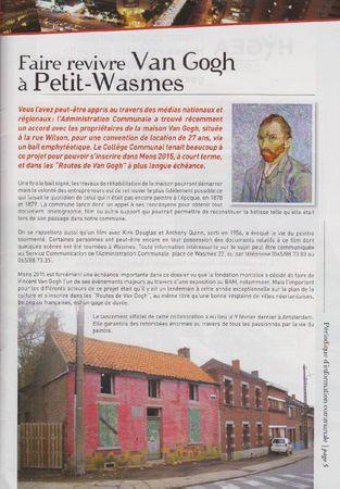 Faire revivre Van Gogh à Petit-Wasmes