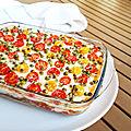 ...les lasagnes de légumes au thon de cyril lignac dans tous en cuisine,2eme édition...