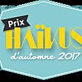 Prix haïkus d'automne 2017