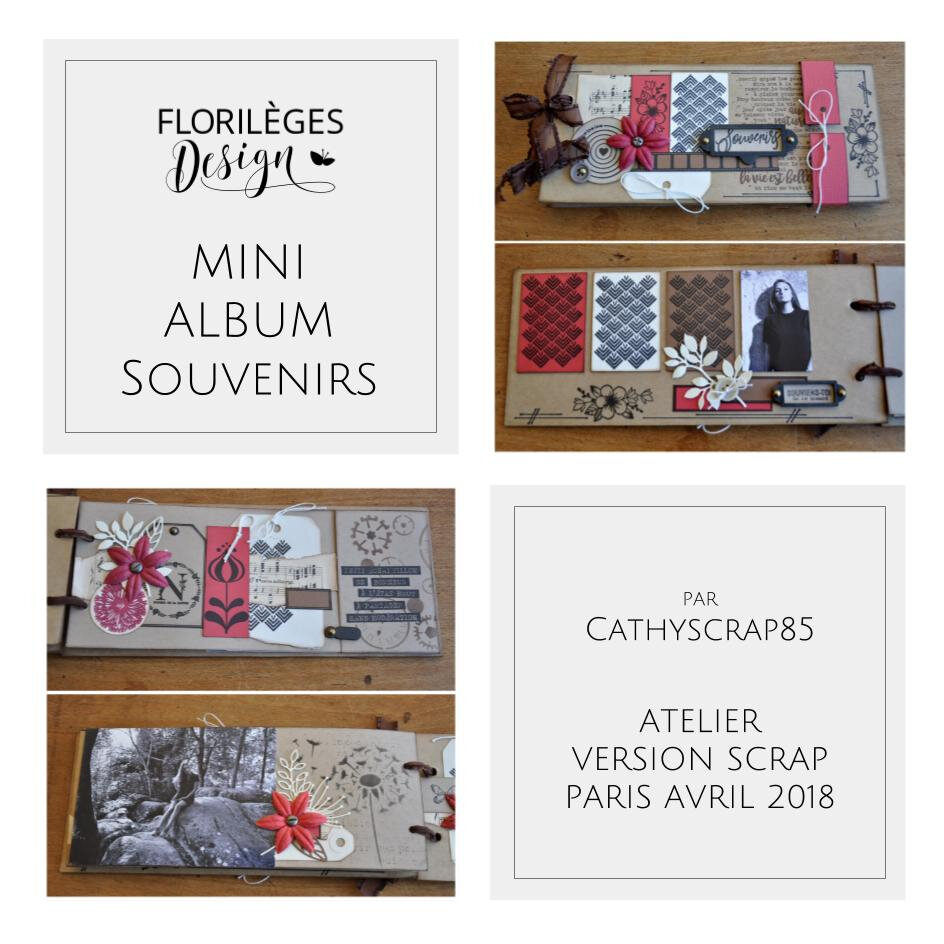 Slide Mini album de Cathyscrap85 : atelier de Version Scrap Avril 2018