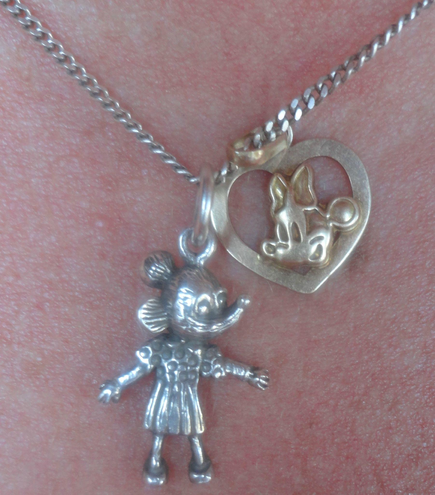 Minnie Mouse Mes 2 pendentifs
