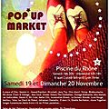 Pop up market : 19/20 novembre 2011