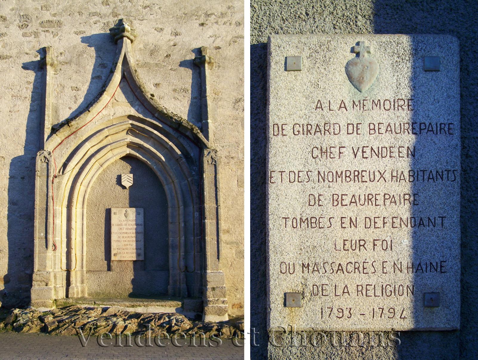 Beaurepaire (85) – Église paroissiale (1935)