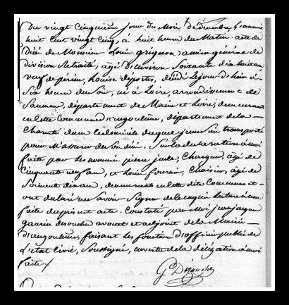 acte décès Louis Grignon général de division
