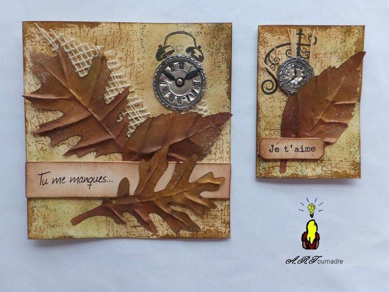 ART ATC feuilles enres 1