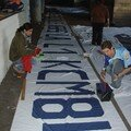 Préparation du tifo pour le HAC - Strasbourg du 02.03.07