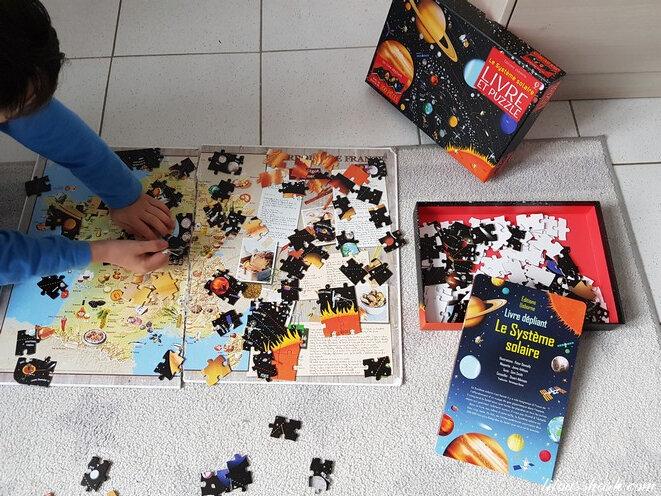 Coffret Le système solaire (Livre et puzzle) usborne 1