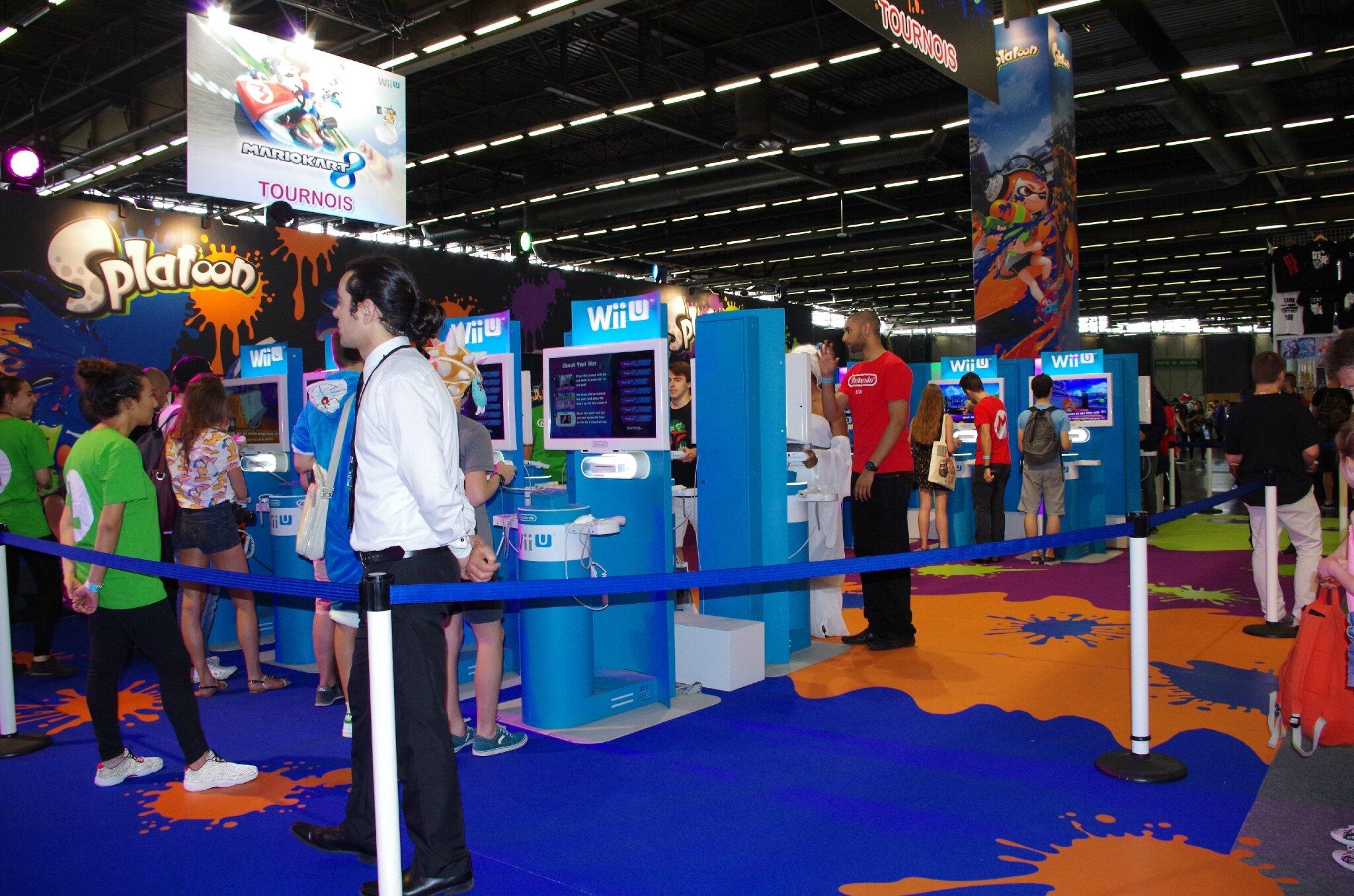 Splatoon sur le stand Nintendo
