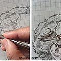 Dessiner un portrait au feutre