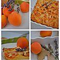 Clafoutis abricots et lavande