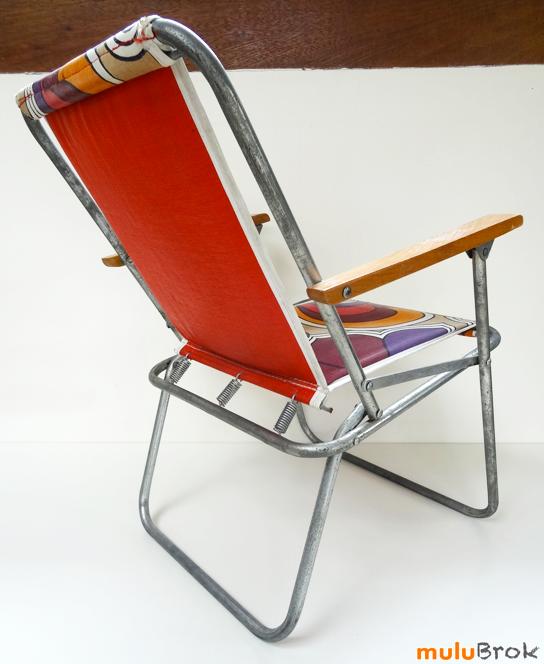 Vintage Fauteuil Camping Pour Enfant Mulubrok Brocante En Ligne