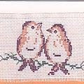 Carte couple d'oiseaux