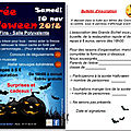 Halloween : bulletin d'inscription