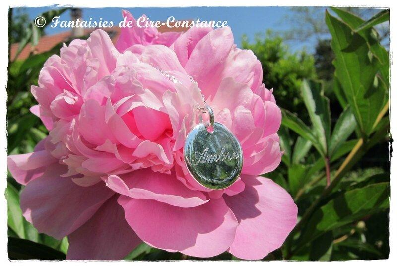 Collier argent Ambre-1
