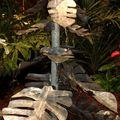 fontaine sculpture métallique