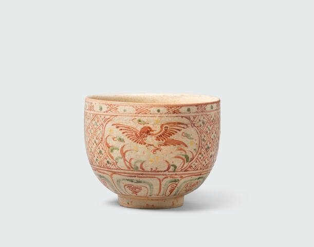 A deep bowl with polychrome enamel decoration, Lê dynasty, 16th century, the decoration possibly later