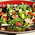 Salade d'épinards, ananas et poulet