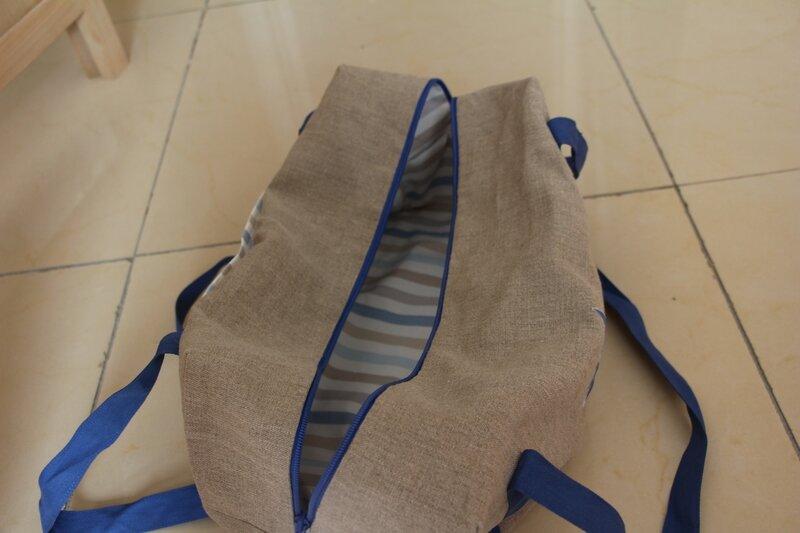 sac polochon vue interieure, 45€