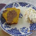 Cake au chocolat, potimarron et crème à la mascarpone