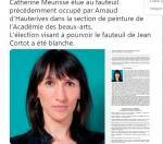 Catheine Meurise académie des beaux arts