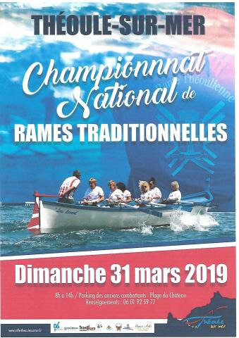 RAME TRADITIONNELLE - CONVOCATION Pour le 30 Mars 2018 - Championat National Théoule le 31 Mars