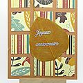 Carte d'anniversaire automnale - fall coloured birthday card