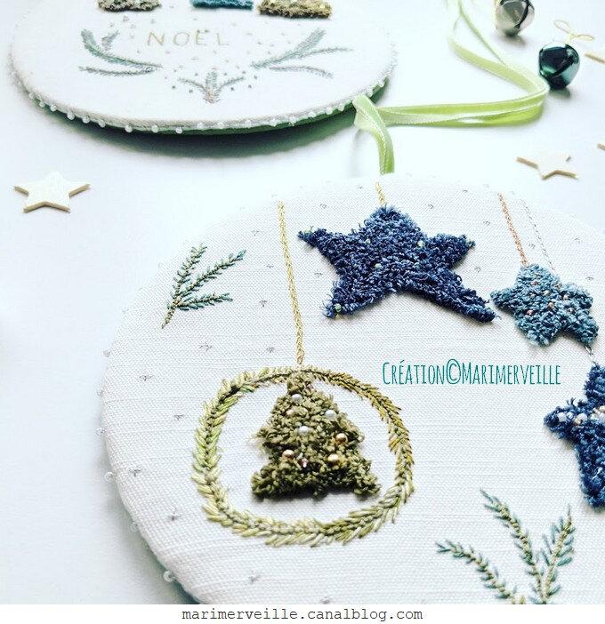 galettes de Noël - punch needle - création ©marimerveille