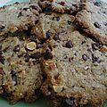 Cookies au chocolat et noix, noisettes...